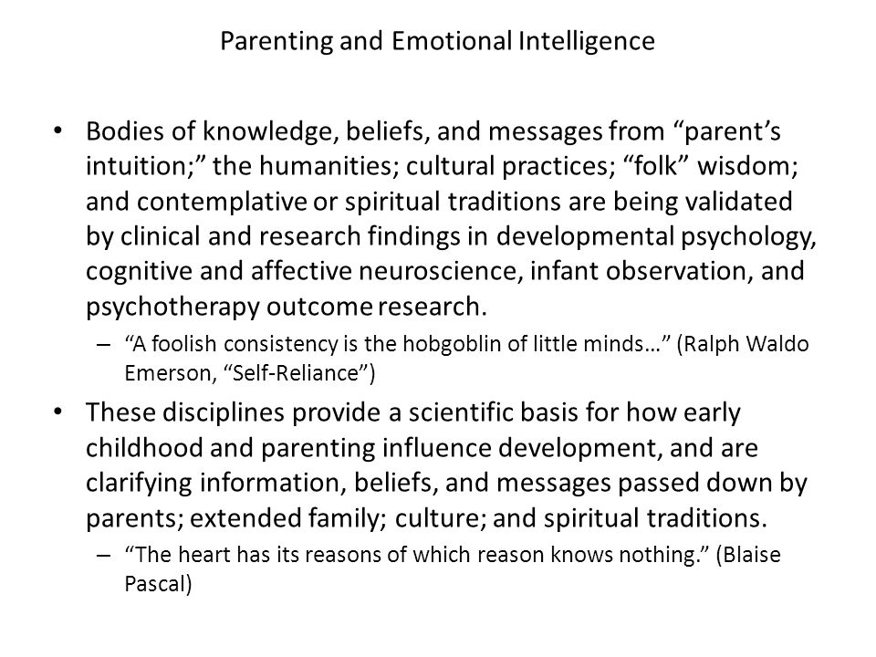 Parenting and Emotional Intelligence