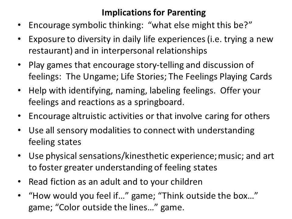 Implications for Parenting