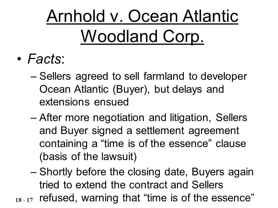 Arnhold v. Ocean Atlantic Woodland Corp.