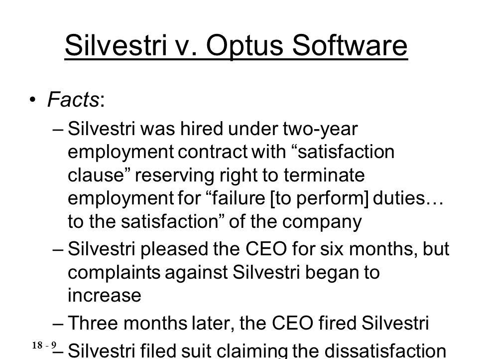 Silvestri v. Optus Software