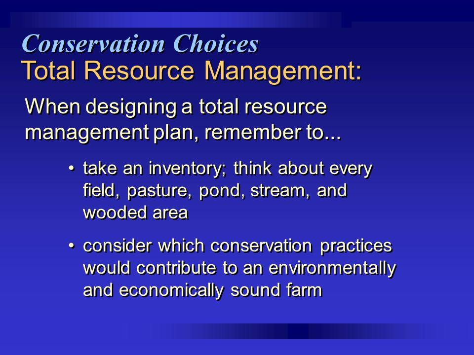 Total Resource Management: