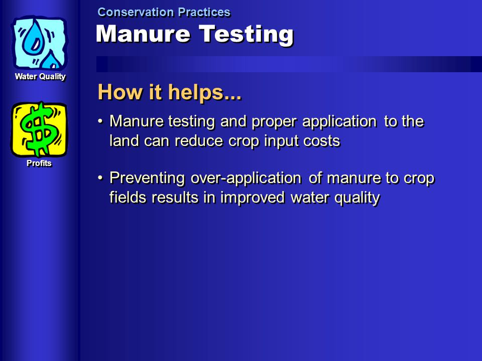 Manure Testing How it helps...