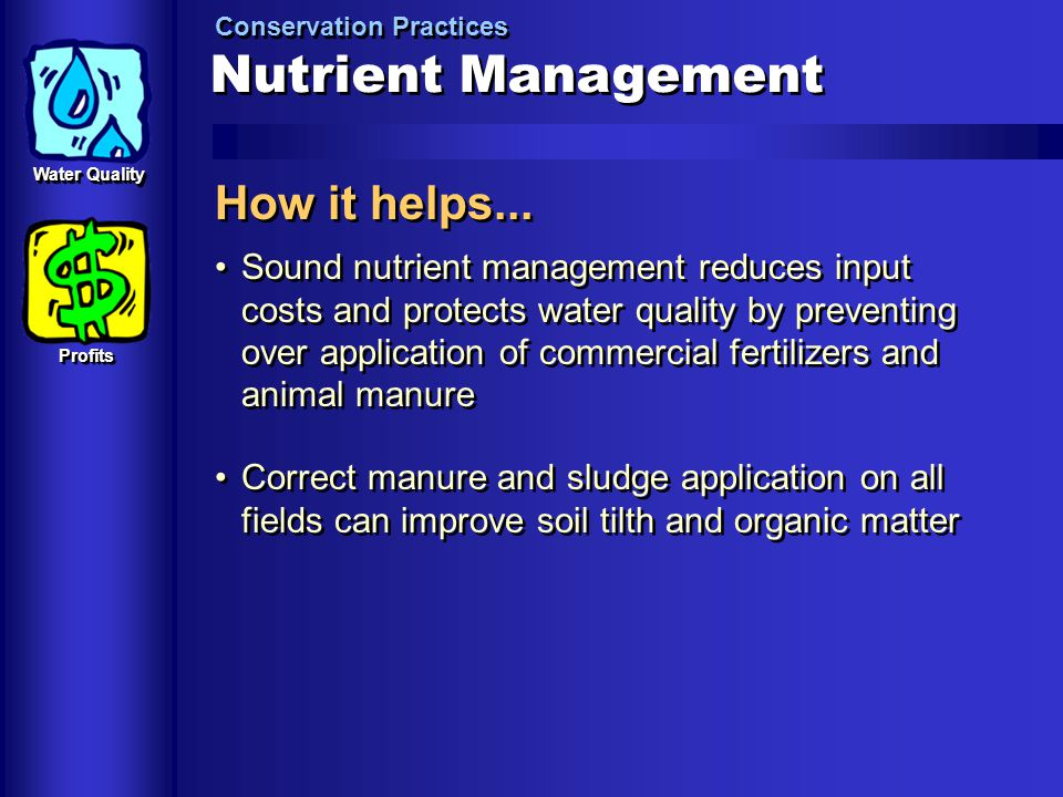 Nutrient Management How it helps...