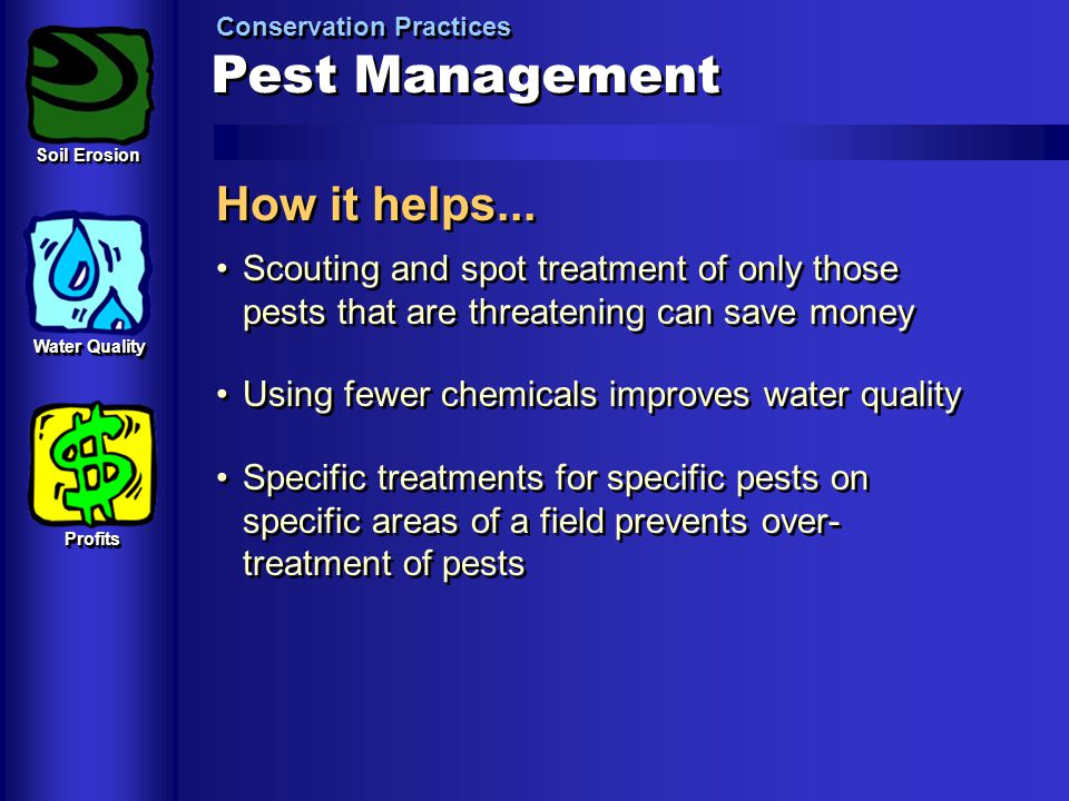 Pest Management How it helps...