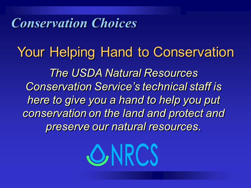 Your Helping Hand to Conservation