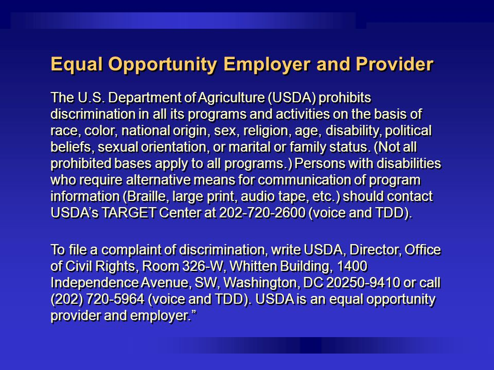 Equal Opportunity Employer and Provider