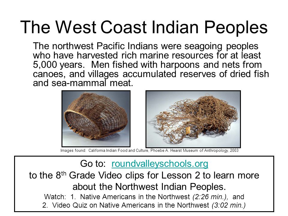 The West Coast Indian Peoples