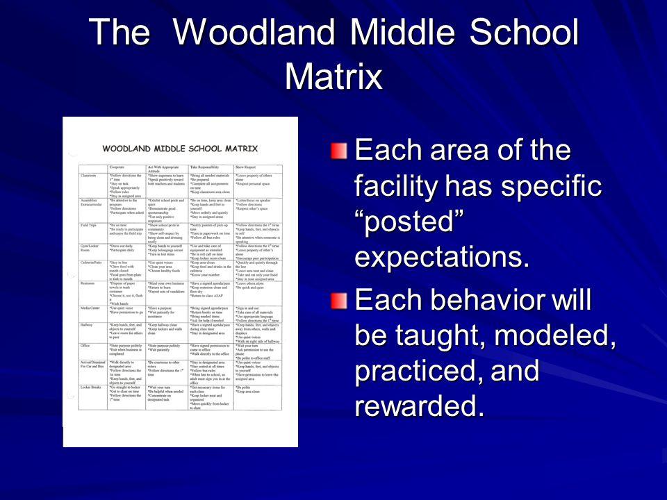The Woodland Middle School Matrix