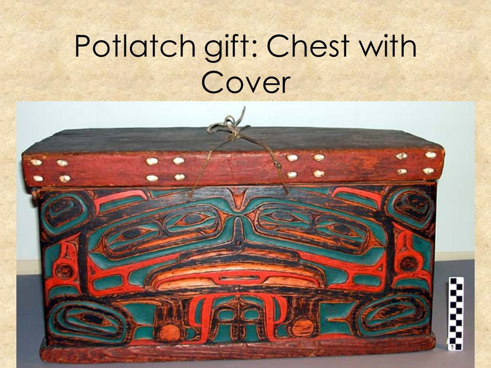 Potlatch gift: Chest with Cover