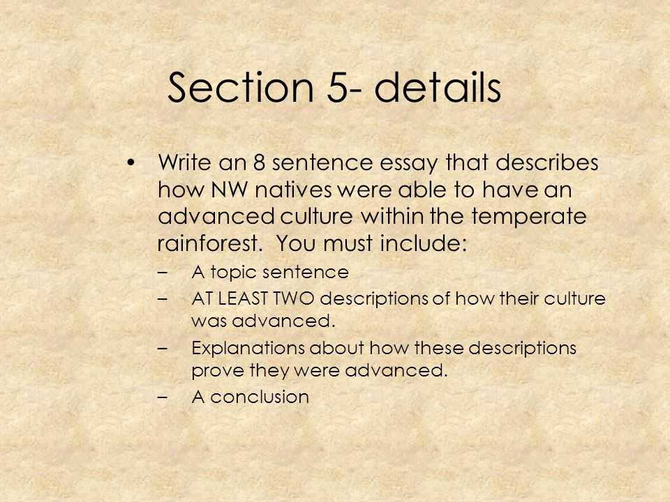 Section 5- details
