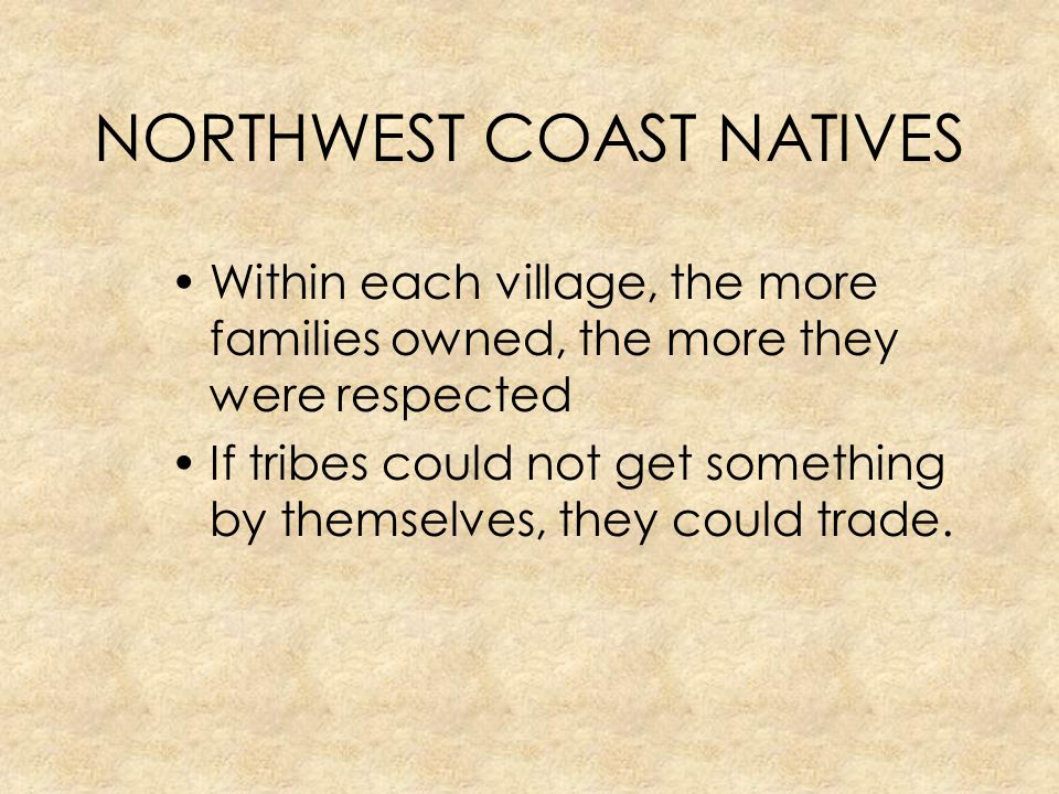 NORTHWEST COAST NATIVES
