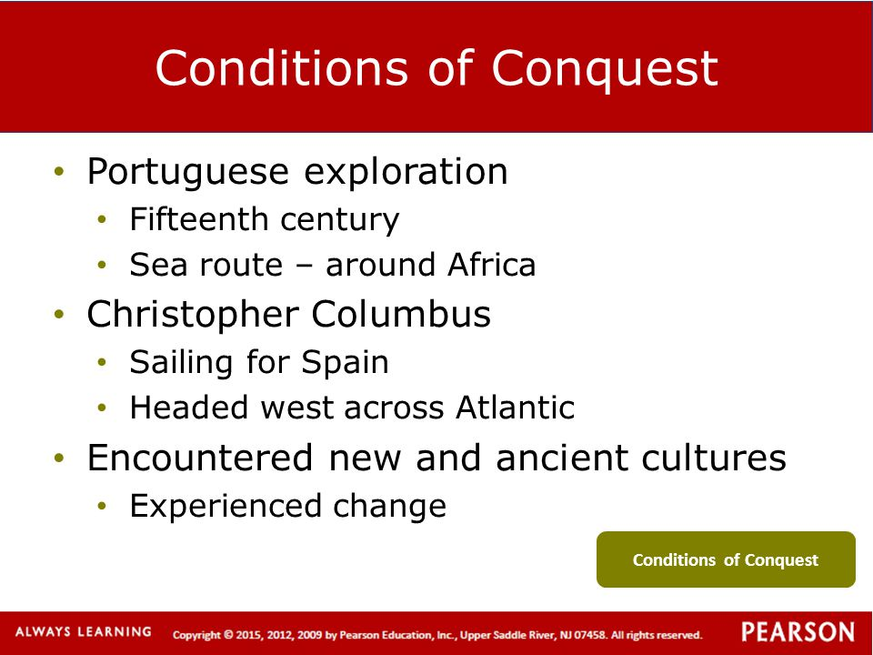 Conditions of Conquest
