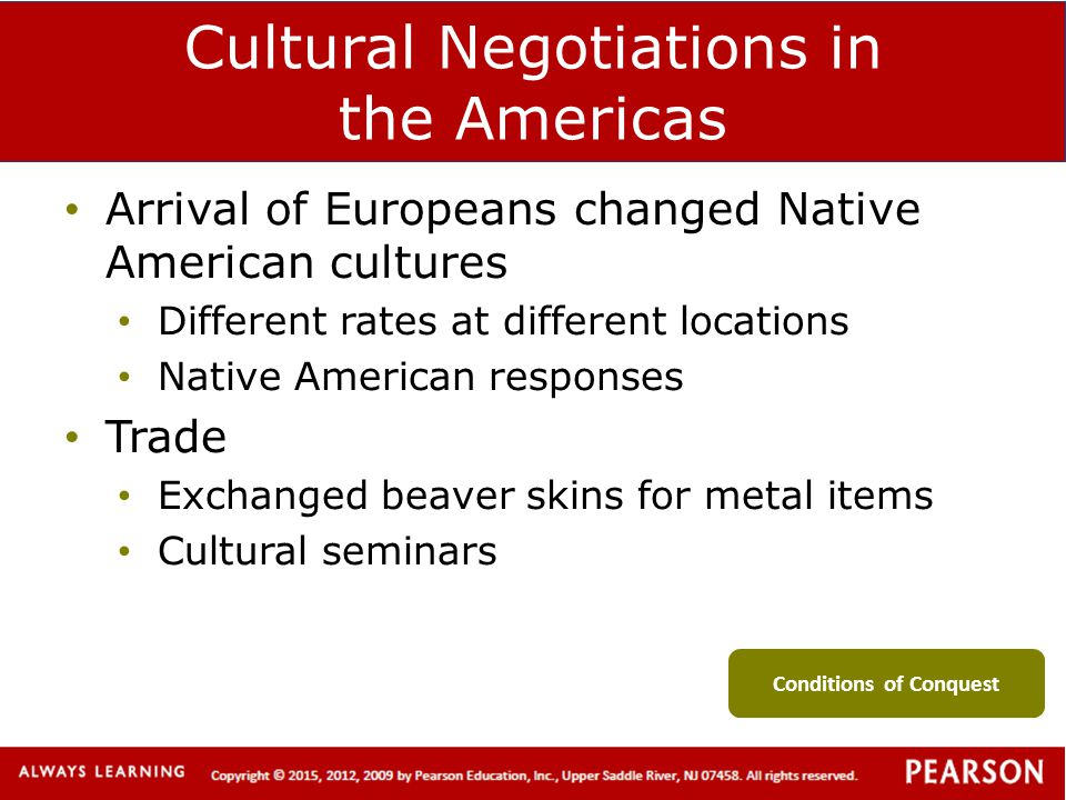 Cultural Negotiations in the Americas