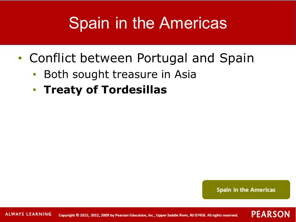 Spain in the Americas Conflict between Portugal and Spain