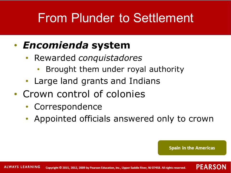 From Plunder to Settlement