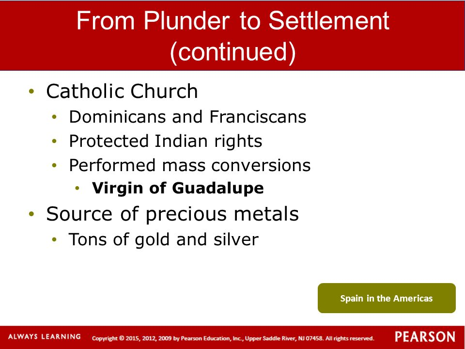 From Plunder to Settlement (continued)