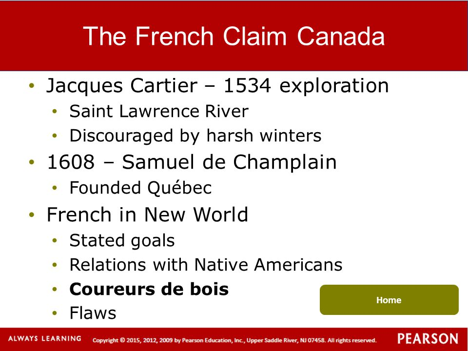The French Claim Canada