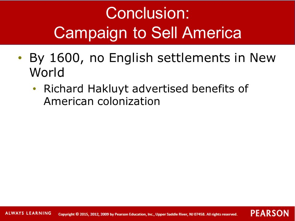 Conclusion: Campaign to Sell America