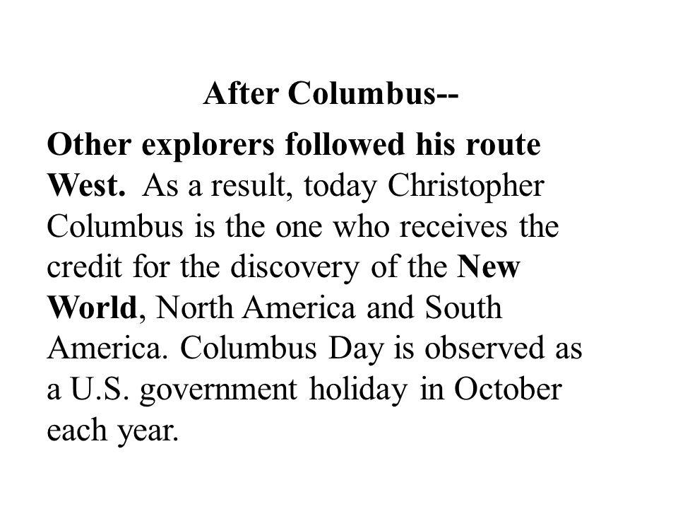 After Columbus--