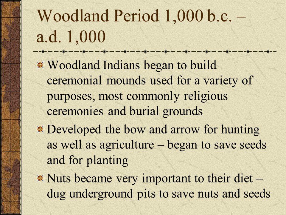 Woodland Period 1,000 b.c. – a.d. 1,000