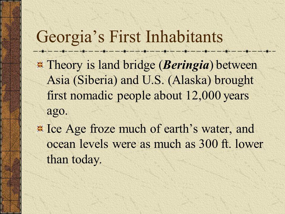 Georgia's First Inhabitants