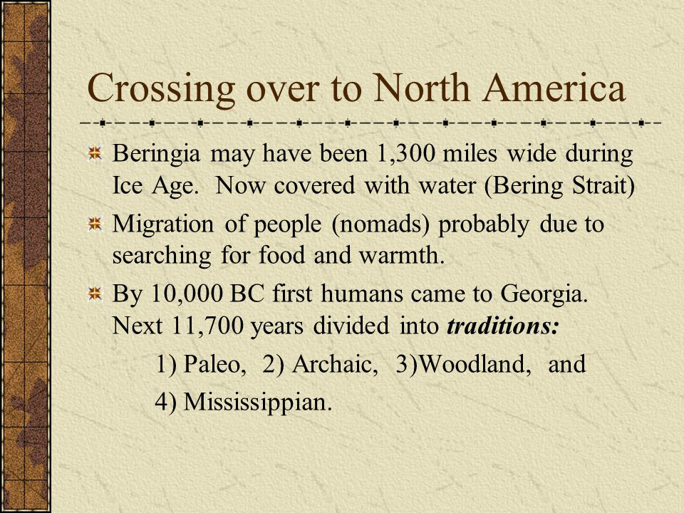 Crossing over to North America