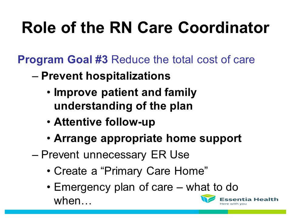 Role of the RN Care Coordinator
