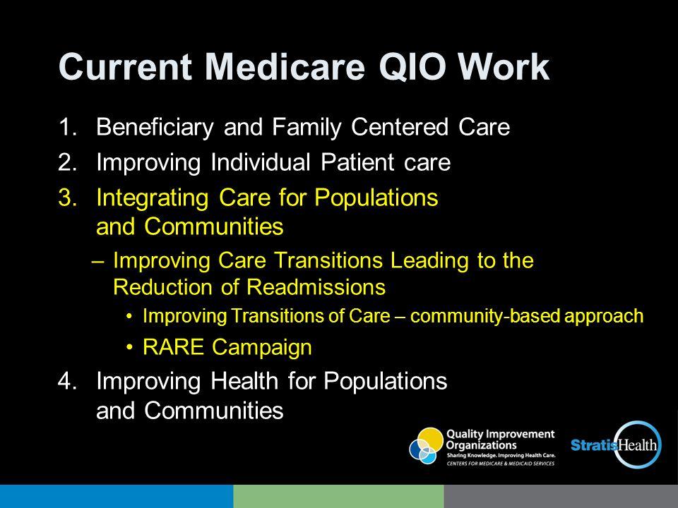 Current Medicare QIO Work