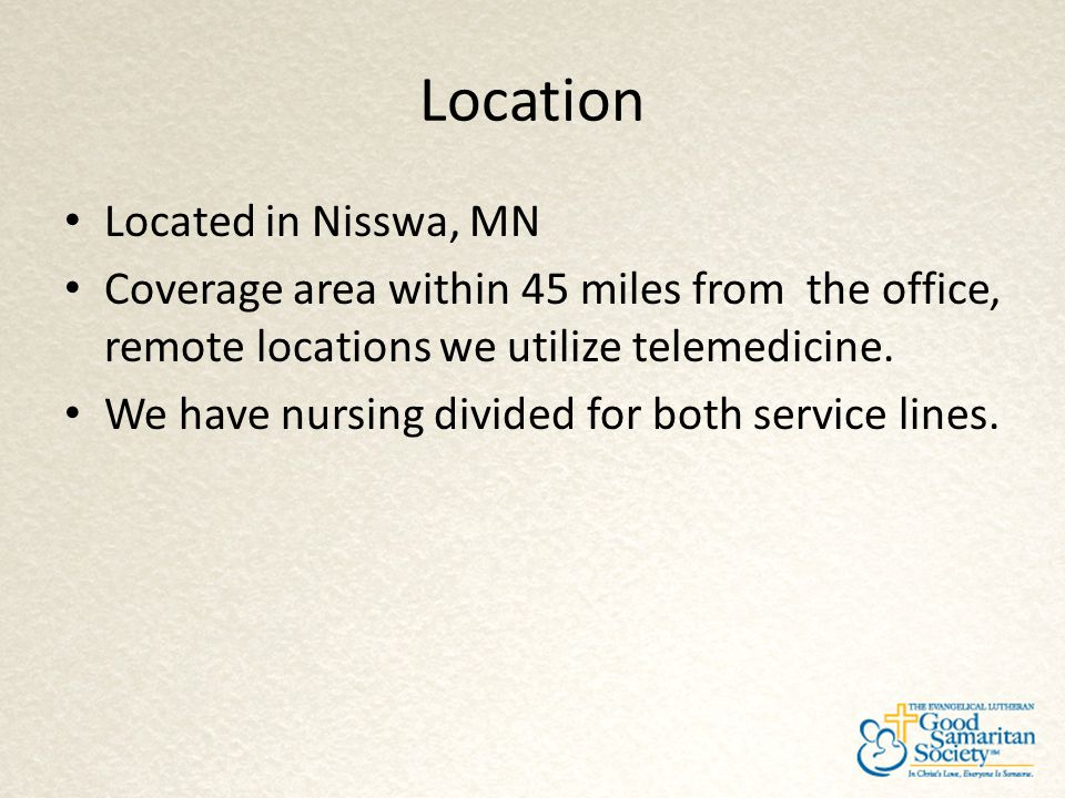 Location Located in Nisswa, MN