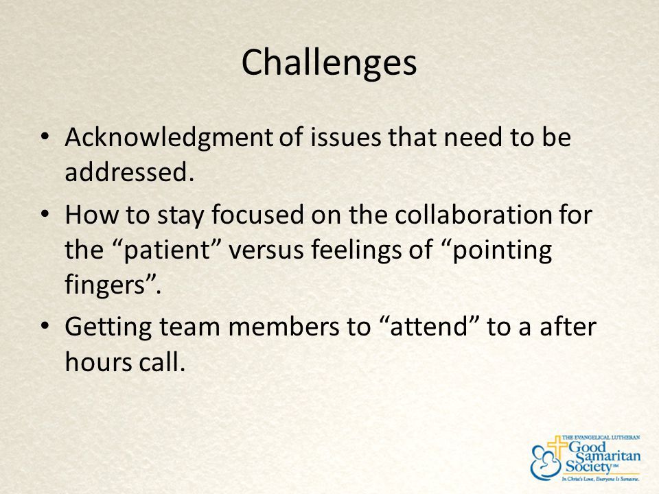 Challenges Acknowledgment of issues that need to be addressed.