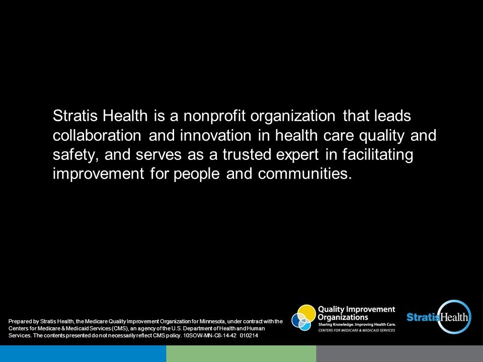 Stratis Health health care quality improvement and patient safety.