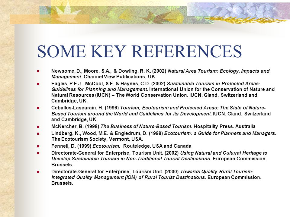 SOME KEY REFERENCES