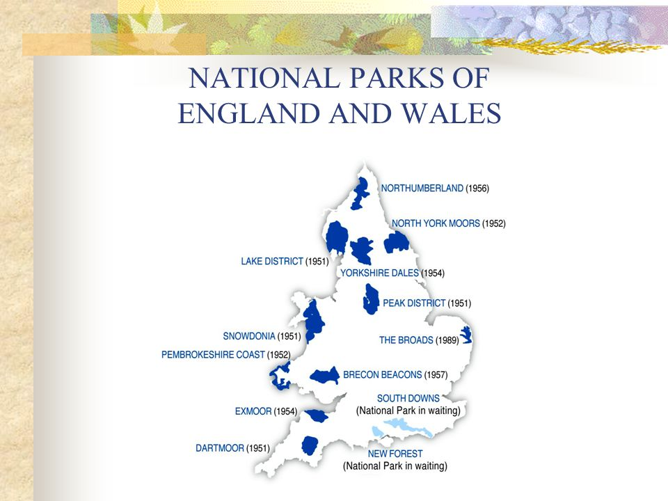 NATIONAL PARKS OF ENGLAND AND WALES