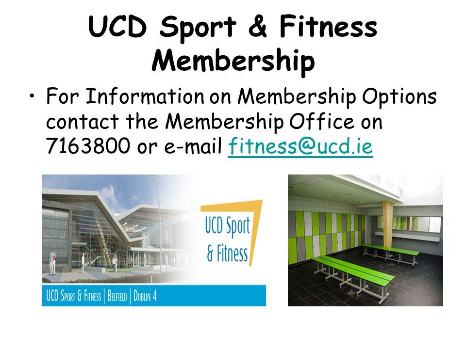 UCD Sport & Fitness Membership