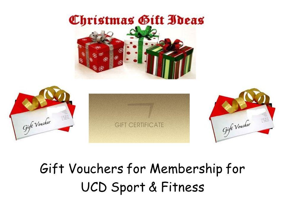 Gift Vouchers for Membership for UCD Sport & Fitness