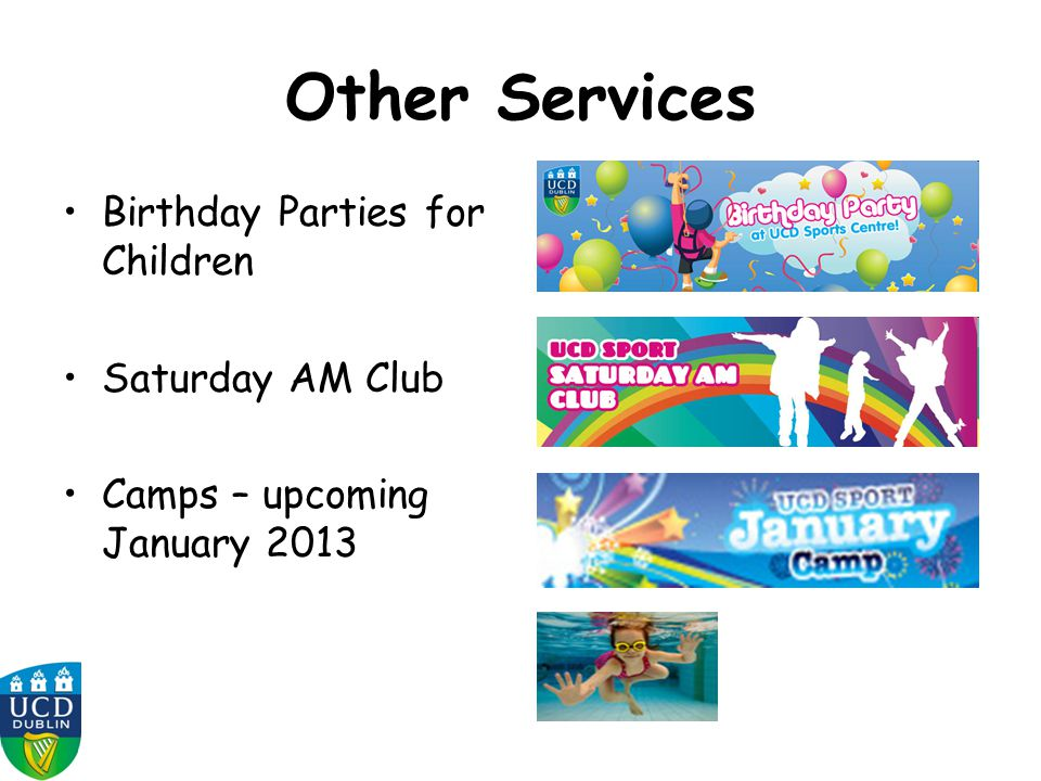 Other Services Birthday Parties for Children Saturday AM Club