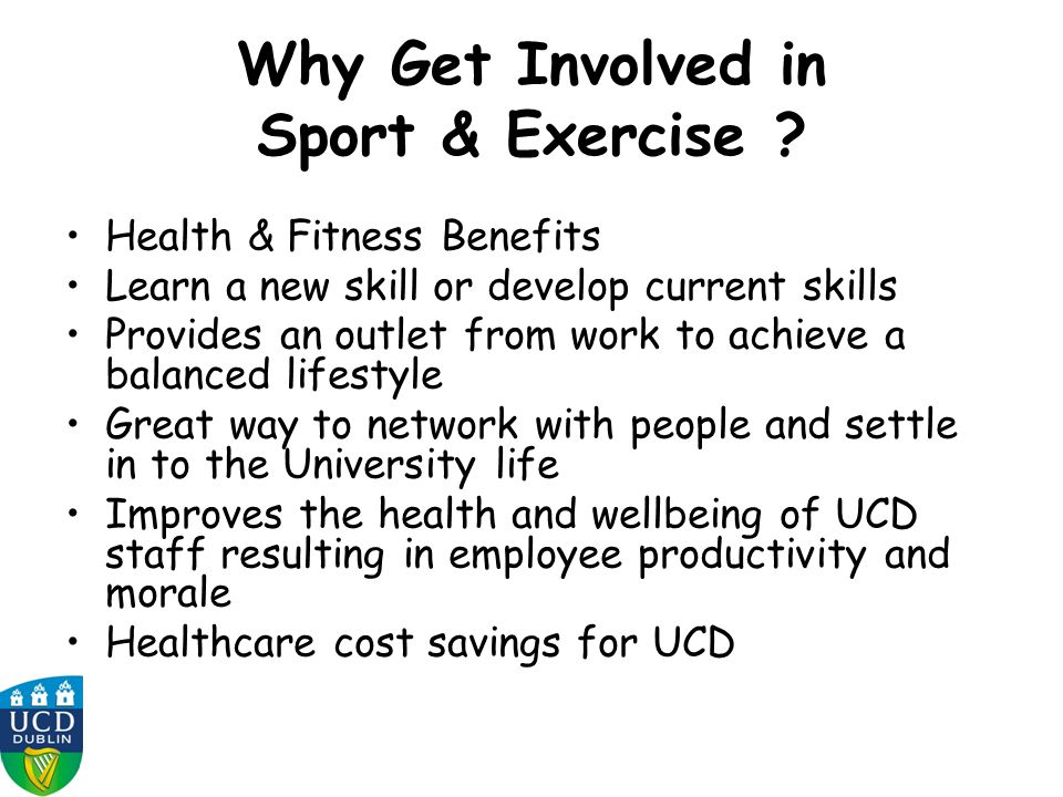 Why Get Involved in Sport & Exercise