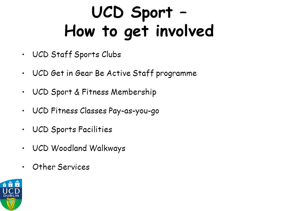 UCD Sport – How to get involved