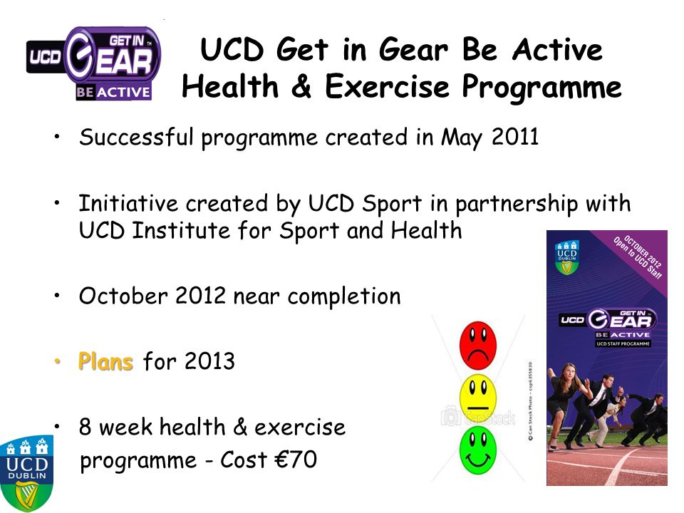 UCD Get in Gear Be Active Health & Exercise Programme