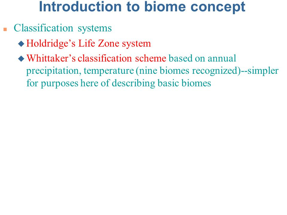 Introduction to biome concept
