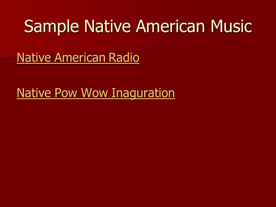 Sample Native American Music