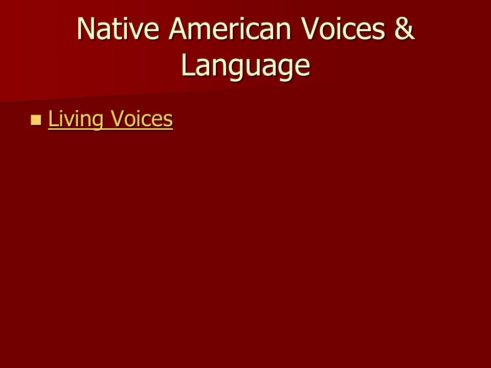 Native American Voices & Language