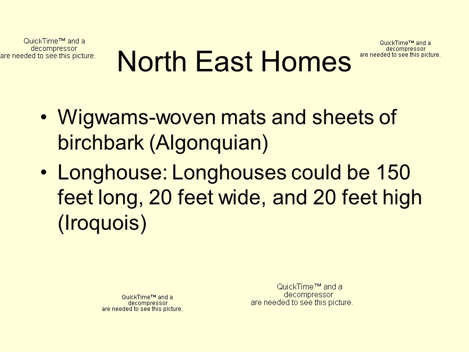 North East Homes Wigwams-woven mats and sheets of birchbark (Algonquian)