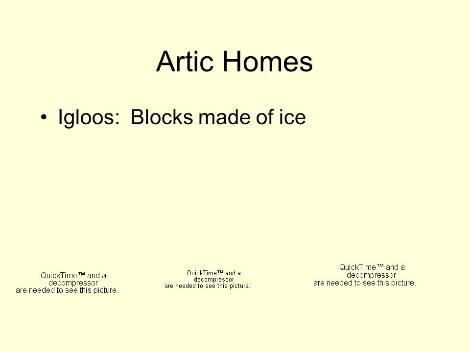 Artic Homes Igloos: Blocks made of ice
