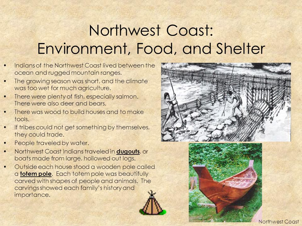 Northwest Coast: Environment, Food, and Shelter