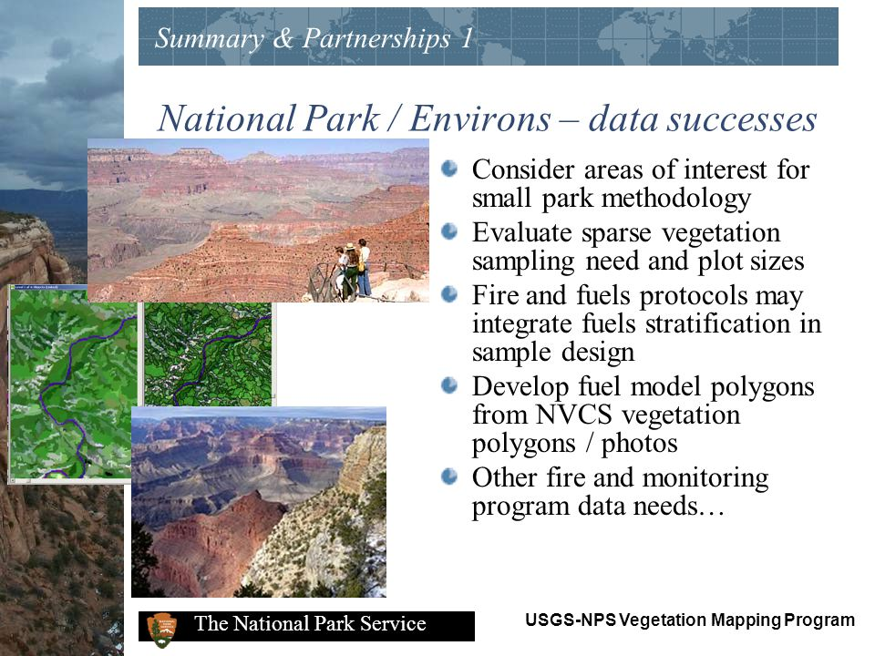 National Park / Environs – data successes