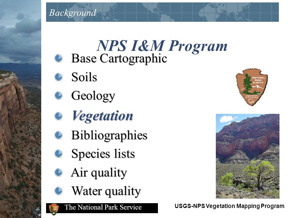 NPS I&M Program Base Cartographic Soils Geology Vegetation
