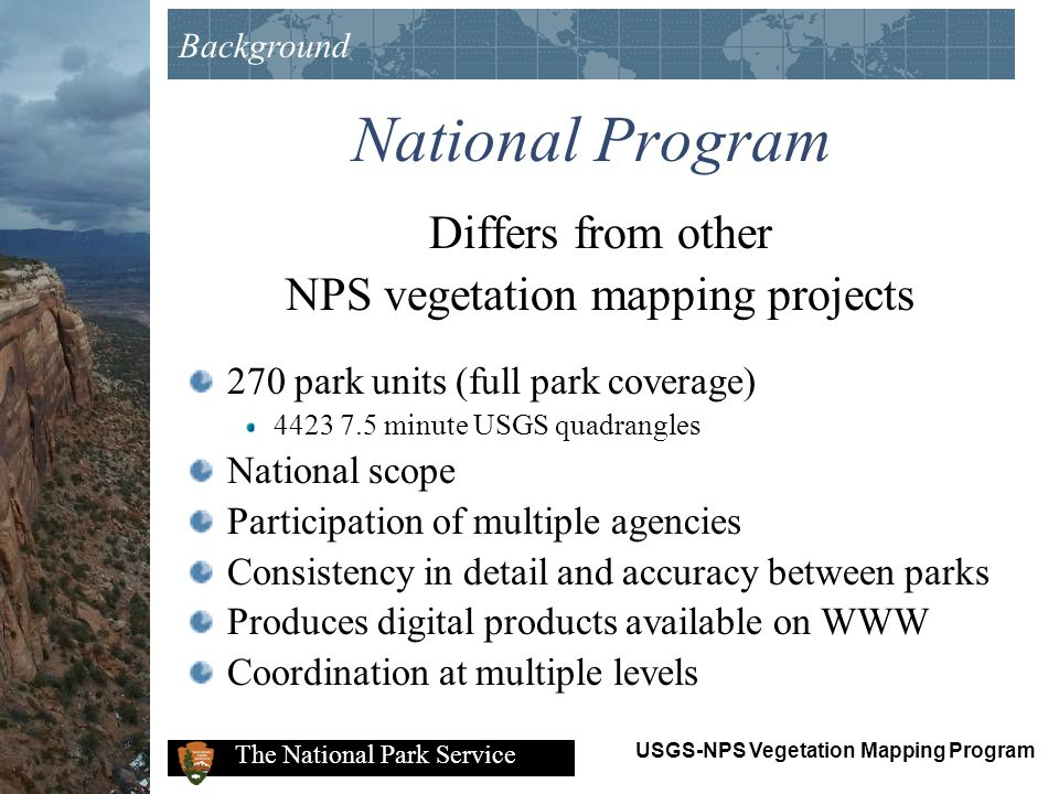 NPS vegetation mapping projects