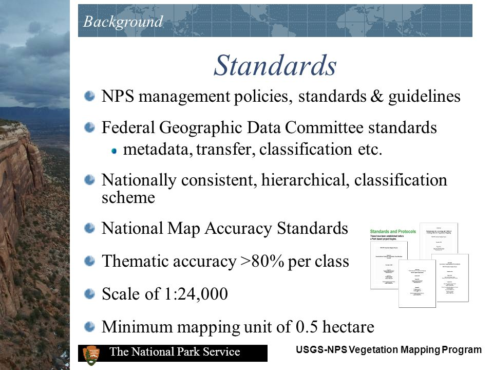 Standards NPS management policies, standards & guidelines