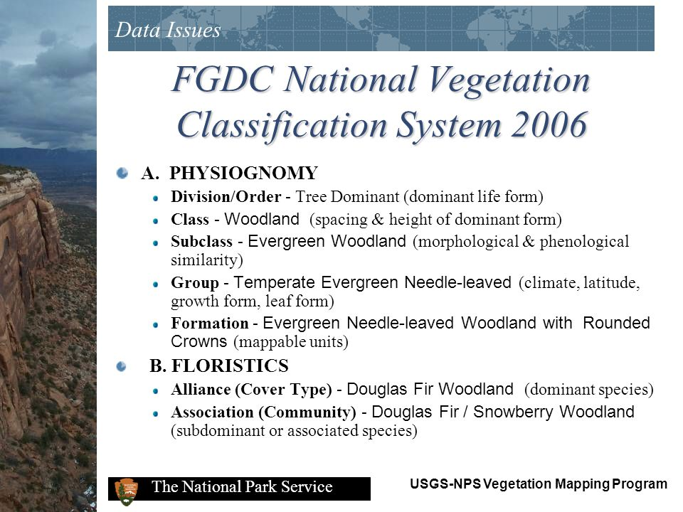 FGDC National Vegetation Classification System 2006